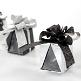 Faltschachtel Cadeau, schwarz, 4 St. - elegantes Gastgeschenk zur Hochzeit