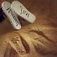 Hochzeitsgeschenk Braut - Flip Flops Just Married - Sandabdruck
