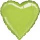 Folienballon Metallicherz, mittel, grün