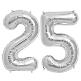 Folienballon Deko Silberhochzeit 25