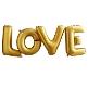Folienballon Schriftzug LOVE, gold