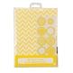 Gastgeschenk-Tüten Chevron, 10 St., gelb-weiß - hübsche Tüten als Gastgeschenk