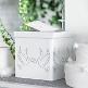 Elegante Geschenk oder Briefbox mit Taubenpaar-Aufdruck - weiße Geschenkbox als Tischdeko