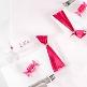 Geschenk-/Tischband Satin, 70mm, 5m, rosa - zur Hochzeit