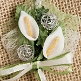 Hochzeitsanstecker Calla, silber-weiß, Deko