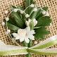 Hochzeitsanstecker Margerite, creme-grün, Deko