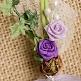 Hochzeitsanstecker Rosen und Efeu, flieder, Deko