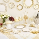 Hochzeitsdeko Partygeschirr in Gold