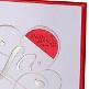 Einladung Hochzeit Detail Kara rot