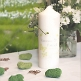Hochzeitskerze Schmetterling in grün