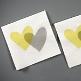 Hochzeitsserviette Love Love, grün, 20 St. - Hochzeitsservietten mit Herz-Aufdruck