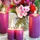 Kerze klein lila