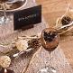 Klammer Schmetterling, 6er Set, fuchsia - hübsches Namensschild zur Hochzeit