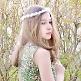 Haarkranz für Blumenmädchen Rosen, weiß, Bild Maedchen