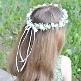 Haarkranz für Blumenmädchen Rosen, creme-grün, Maedchen