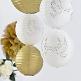 Lampions Rund gold Dekovariante