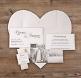Lea Hochzeitseinladung Briefumschlag als Herz