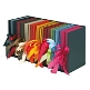Farbenfroh Leporellos in bunter Auswahl