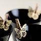 Metallschmetterling Filigran, grün, 6 St. - Hochzeitsdekoration Schmetterling gold
