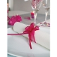Organzaschleife Mini hellblau für Hochzeitsdeko oder Gastgeschenke