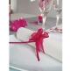 Organzaschleife Mini rosa für Ihre Tischdeko