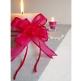 Organzaschleife Mini rosa für Hochzeitsdeko und Gastgeschenke