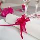 Türkise Organzaschleife für Gastgeschenke zur Hochzeit - Dekobeispiel
