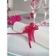 Gastgeschenk Organzaschleife Mini als Tischdeko