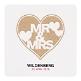 Hochzeitskarte mit MR&MRS Aufschrift
