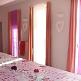 Rosa Dekorations-Banner aus Vlies zur Hochzeit - Dekobeispiel