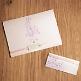DIY - Hochzeitskarten mit rosa Satinband