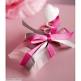 Geschenkverpackung Satinband in Weiß