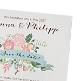 Dankeskarte zur Hochzeit Anna mit traumhaften Blütenmotiven