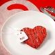 Schild Herz mit Satinband, weiß, 12 St. weißes Schild als Deko-Accessoire
