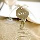 Schild Kreis mit Satinband, gold, 12 St. - goldenes Deko-Schild zur Hochzeit