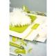 Schild mit Satinband grün