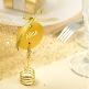 Schild Kreis mit Satinband, gold, 12 St. - schickes Deko-Schild zur Hochzeit