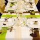Tischband in Apricot aus Vlies zur Hochzeitsdekoration - Dekobeispie