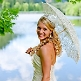 Spitzenschirm Europa - Braut mit Schirm