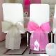 Stuhlschleifen Vlies, weiß, 10 St. - elegante Stuhlschleifen zur Hochzeit