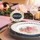 Hochzeitsdeko mit Tischaufsteller Hochzeitstafel Vintage als Tischkarte