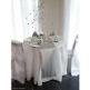 Tischdecke Flies mit Beispiel für Hochzeitsdeko