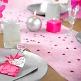 Rosa Tischdeko mit Tischläufer in Rosa aus Vlies