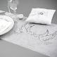 Tischläufer Taubenpaar, 5 m - Eleganter Tischläufer zur Hochzeit