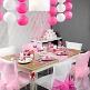 Hochzeitsdeko in Rosa für den Tisch