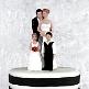Tortenfigur zur Hochzeit Brautpaar mit Kindern