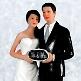 Tortenfigur Mr&Mrs zur Hochzeit Nahaufnahme