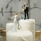 Tortenfigur Liebeslied auf der Hochzeitstorte