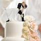 Tortenfigur Hollywood Brautpaar auf der Hochzeitstorte