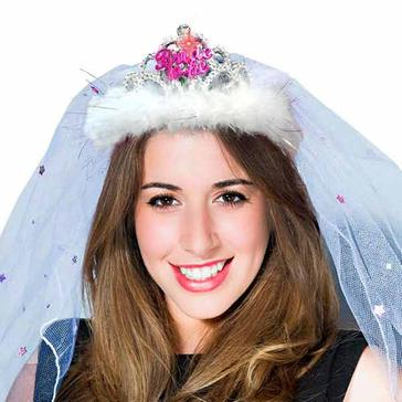 Tiara Bride to be mit Schleier